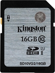 Karta Pamięci Kingston SDHC UHS-I 16GB, R45MB/s, W10MB/s, Class 10