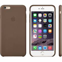 ETUI IPHONE 6 PLUS LEATHER CASE OLIVE BROWN MGQR2ZM/A