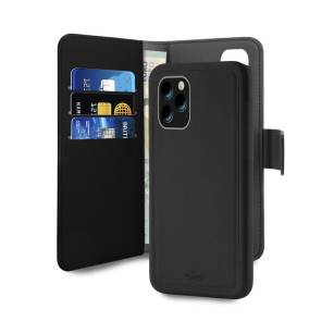 PURO Wallet Detachable - Etui 2w1 iPhone 11 Pro czarny IPCX19BOOKC3BLK - towar w magazynie, natychmiastowa wysyłka FV 23%, odbiór osobisty 0 zł
