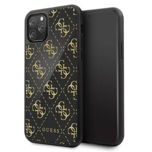 Guess GUHCN584GGPBK iPhone 11 Pro black hard case 4G Double Layer Glitter - towar w magazynie, natychmiastowa wysyłka FV 23%, odbiór osobisty 0 zł