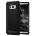 Spigen Rugged Armor Samsung G955 S8 Plus extra czarny/black 571CS21276 - towar w magazynie, natychmiastowa wysyłka FV 23%, odbiór osobisty 0 zł