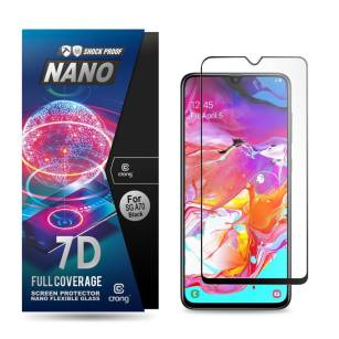 Crong 7D Nano Flexible Glass - Szkło hybrydowe 9H na cały ekran iPhone 11 Pro / iPhone Xs / X  CRG-7DNANO-IPXS