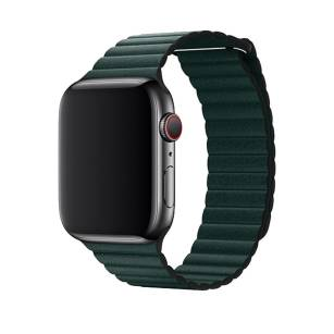 Devia pasek Elegant Leather Loop do Apple Watch 44mm / 42mm forest green
