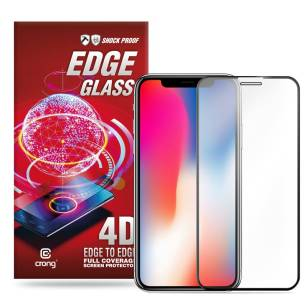 Crong Edge Glass - Szkło full glue na cały ekran iPhone 11 Pro Max / iPhone Xs Max CRG-GLEDGE-IPXSM