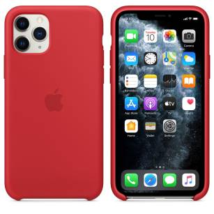 Apple iPhone 11 Pro Max Silicone Case (PRODUCT)RED MWYV2ZM/A