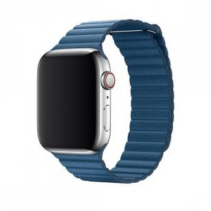 Devia pasek Elegant Leather Loop do Apple Watch 44mm / 42mm cape cod blue