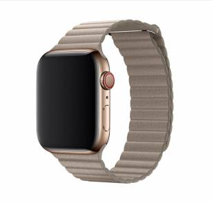 Devia pasek Elegant Leather Loop do Apple Watch 44mm / 42mm stone