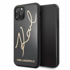 Karl Lagerfeld KLHCN58DLKSBK iPhone 11 Pro black hard case Signature Glitter - towar w magazynie, natychmiastowa wysyłka FV 23%, odbiór osobisty 0 zł